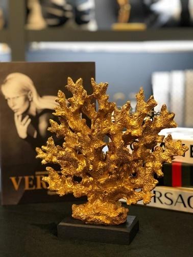 Kokosh Dekoratif Siyah Altın Mercan Mercan